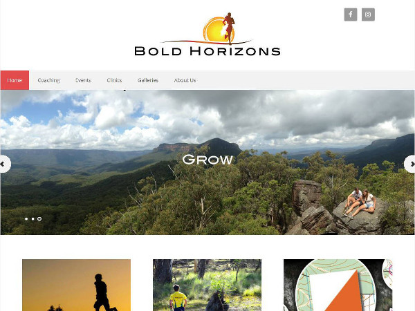 image of the front page of Bold Horizons